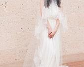 Ready to ship -Bridal cathedral veil-drop veil-wedding veil-lace blusher veil-cathedral veil-style 190