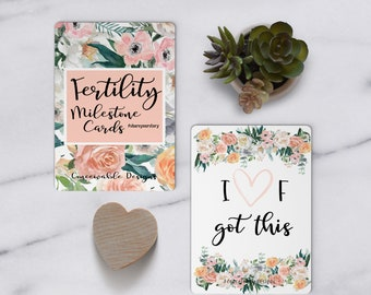 Fertility Milestone Cards™,  IVF, Milestone Cards, ART Journey Cards, IVF, infertility, share your story cards