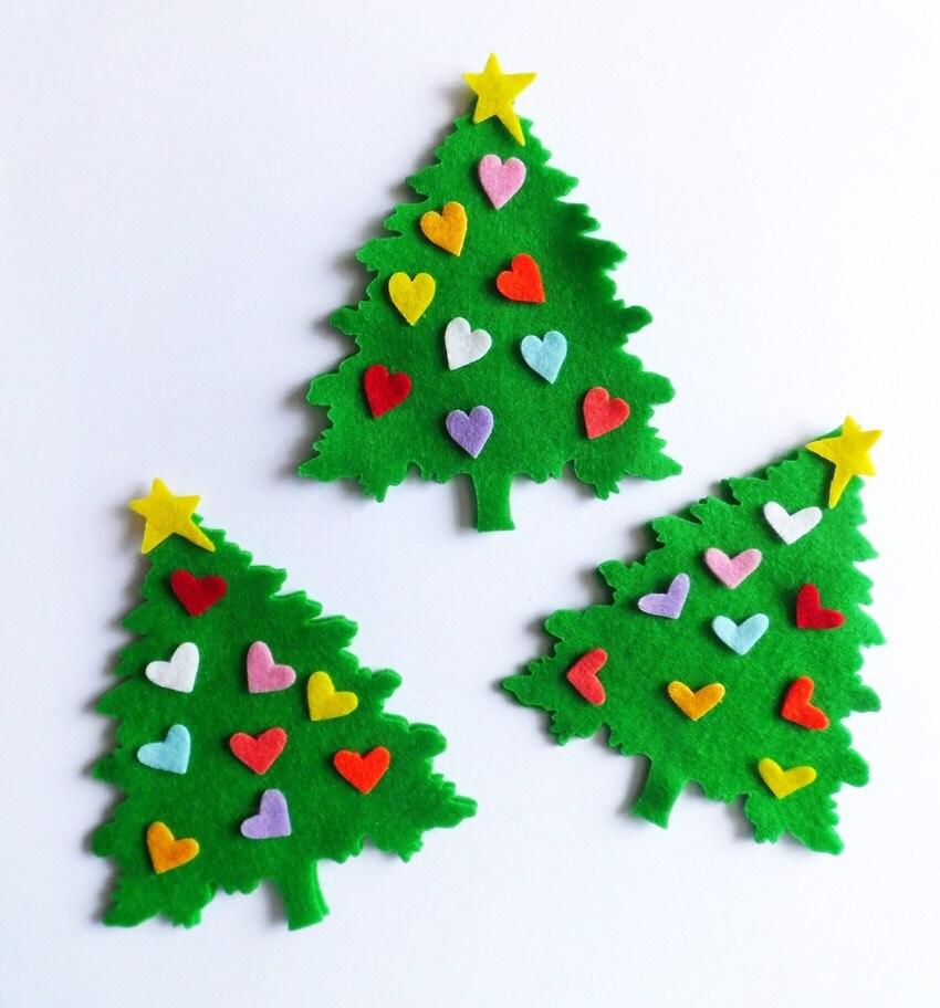 85c848537f0 Diy kit Arbol de Navidad de fieltro Adornos Navidad