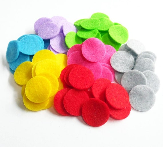 "10 pieces 1.5/"" grey felt circles die cut appliqués for flower /& bow headband"