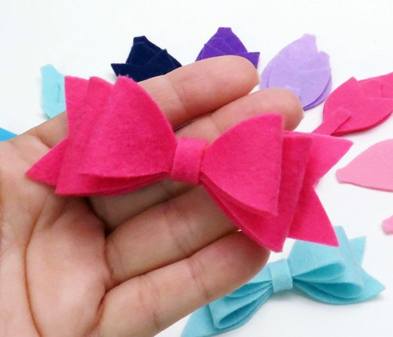 Felt bows for diy projects make your own ties  felt shapes image 0