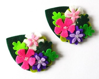 Felt applique, Felt Flower applique, Felt Flower Embellishment, Craft Supplies
