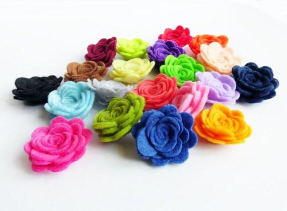 NUOVO BELLISSIMO MIX Pastello Fiore per capelli Clip 9 colori il venditore Regno Unito