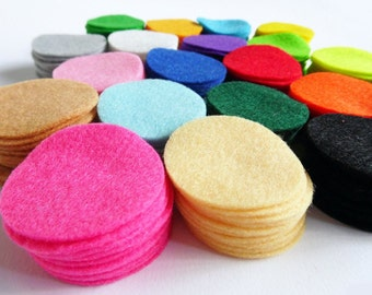 Felt Circles for crafts, size 1.5 inch, hair bows supplies