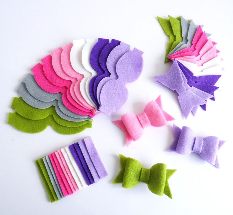 Felt bows for headbands felt shapes for diy projects bows in image 0