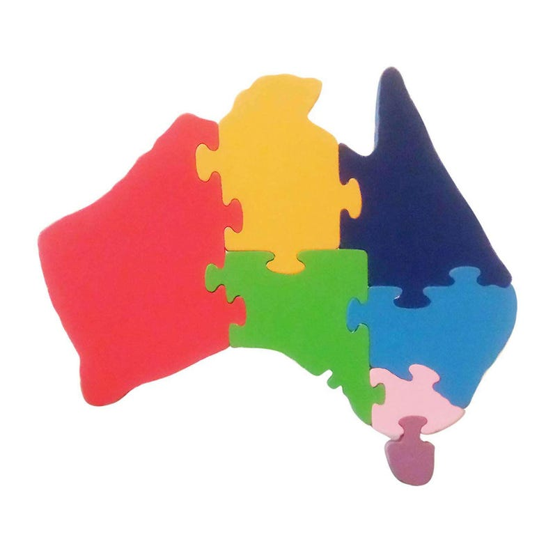 Map Of Australia Jigsaw Puzzle.Wooden Australia States Jigsaw Puzzle Handcrafted Educational