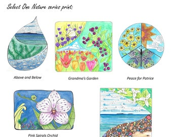 Nature Series Print - Select 1 - #Waterislife #PureMichigan #Peace #Garden #Orchid #Zentangles