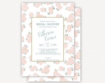 Invitation: muted floral