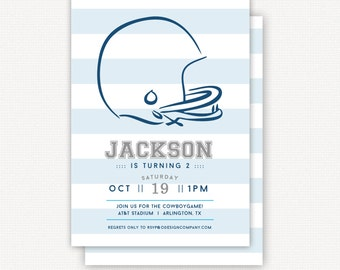 Invitation: football watercolor