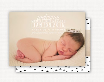 Birth Announcement: Clean Stamps