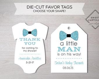 Ships in 24 hours! Boy//Girl Baby Shower Favor Tags Mini Shirt Shaped
