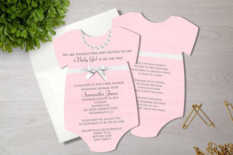 fb20e166b Pink Baby Shower Invitation Baby Girl Shower Invite   Etsy