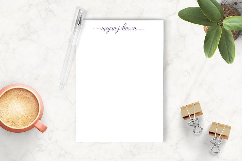 Personalized Notepad Custom Notepad Personalized Stationery image 0
