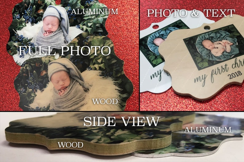 Christmas Ornament Holiday Gift Personalized Photo Ornament Remember Photo Ornament In Memory of Photo Ornament Heaven in Our Home