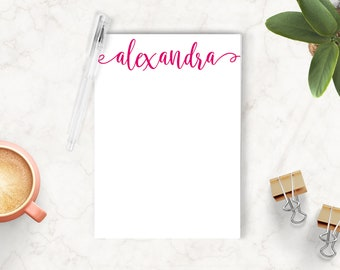 Personalized Notepad, Custom Notepad, Personalized Stationery, Writing Pad, Gift for Her, Calligraphy Notepad, Charming Script Notepad