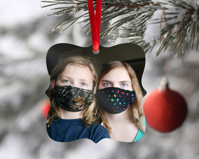 Pandemic Ornament Personalized Photo Ornament Quarantine Holiday Gift 2020 Covid Photo Ornament Custom Ornament Pandemic