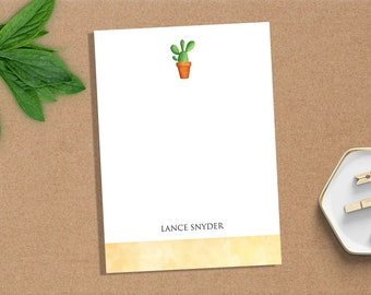 Personalized Notepad   Custom Notepad   Personalized Stationery   Writing Pad   Gift for Her   Cactus Stationery   Cactus Notepad