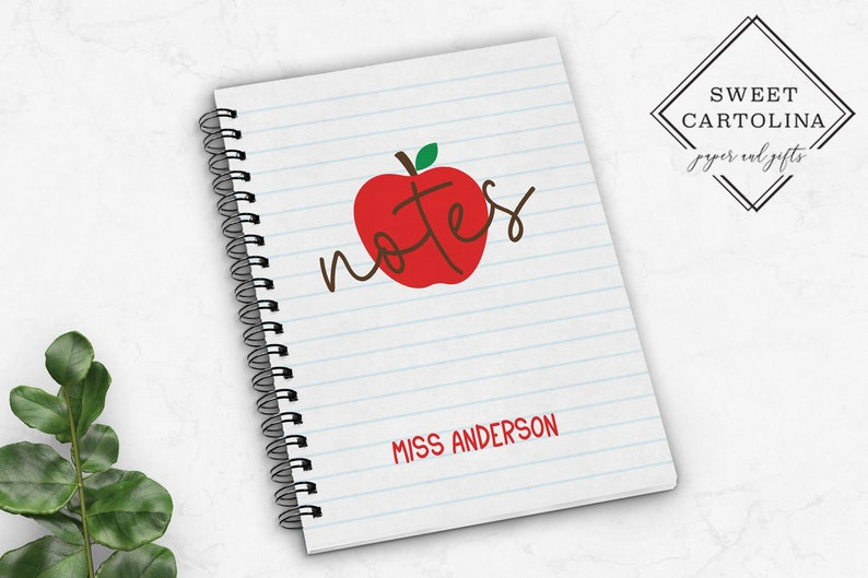 Personalized Spiral Notebook  Personalized Journal  Teacher image 0