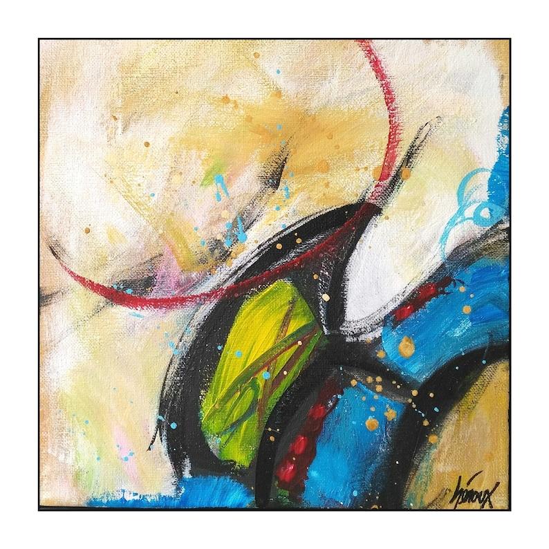 original modern painting original on canvas Abstract art Small modern art earth colors 10x10 inch primitive art