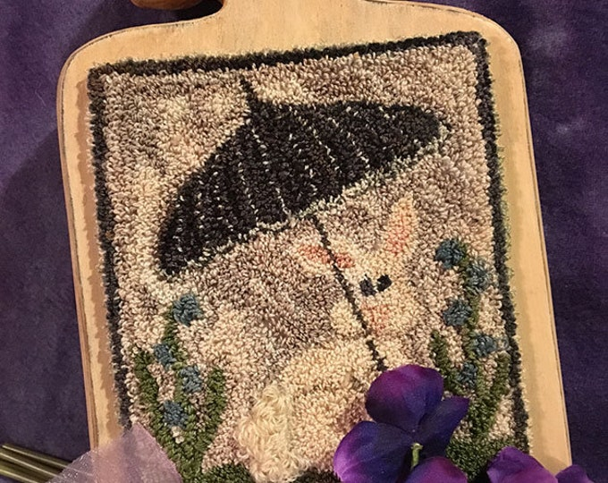 Primitive Punchneedle Embroidery April Showers Pattern
