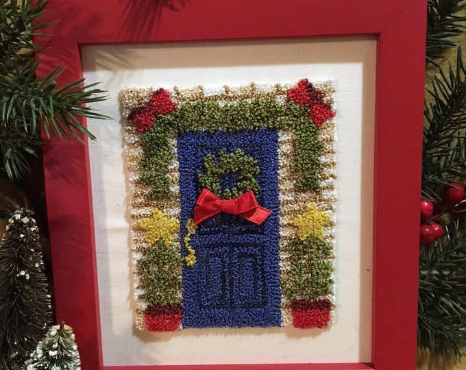 Primitive Punchneedle Embroidery Pattern Season's Greetings