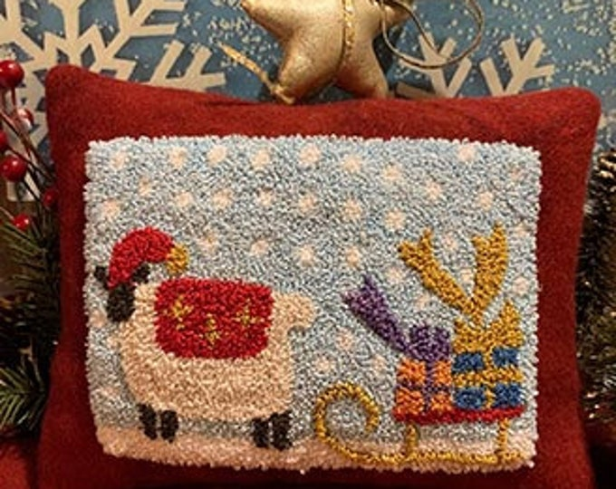 Primitive Punchneedle Embroidery Pattern Glad Tidings