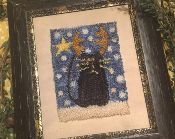 Primitive Punchneedle Embroidery Pattern Believe