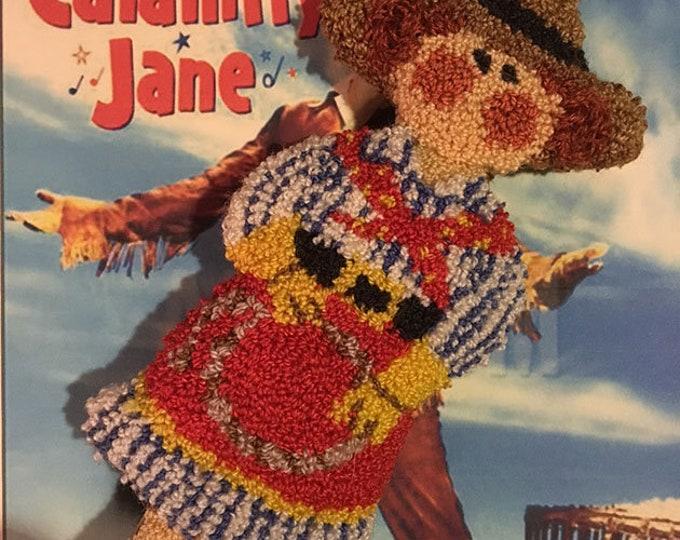 Primitive Punchneedle Embroidery Pattern Calamity Jane