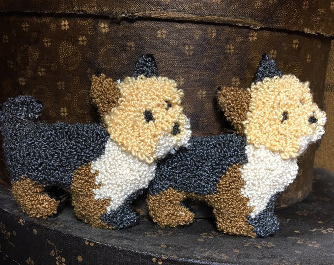 Primitive Punchneedle Butters Baby Yorkie Pattern