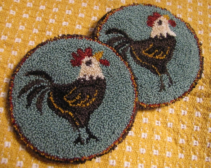 Primitive Punchneedle Everywhere a Chick Pattern