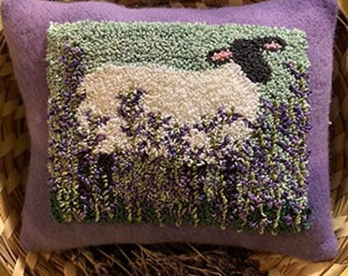 Primitive Punchneedle Embroidery Pattern Lavender