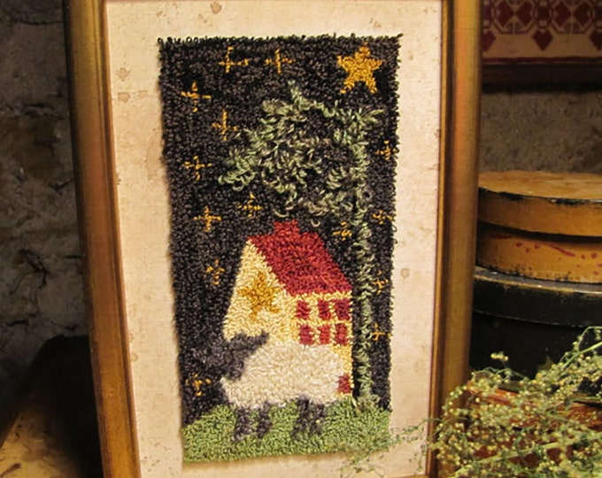 Primitive Punch Needle Home Sweet Home  Pattern