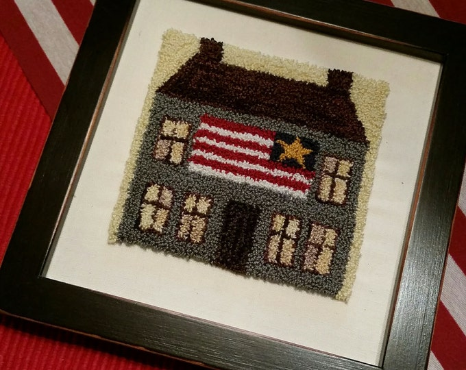 Primitive Punchneedle Home of the Free & the Brave  Pattern