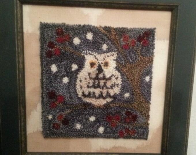 Primitive Punchneedle Snowy Owl Pattern
