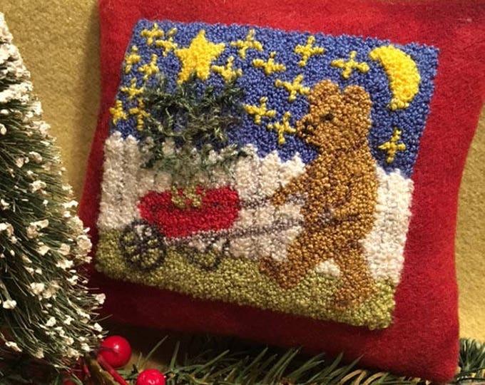 Primitive Punchneedle Beary Christmas Pattern