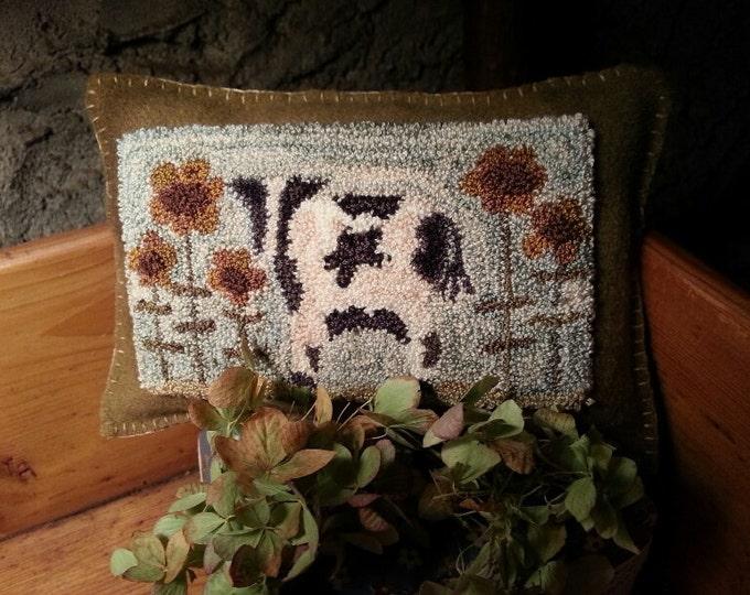 Primitive Punchneedle Pattern Sunflower Sally