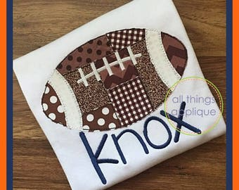 Football applique etsy