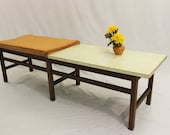 Mid Century Modern Harvey Probber Jens Risom style table bench