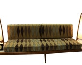 Mid Century Modern, danish, retro, Vintage upholstered 1950 39 s Daybed, floating sofa, Adrian pearsall platform couch