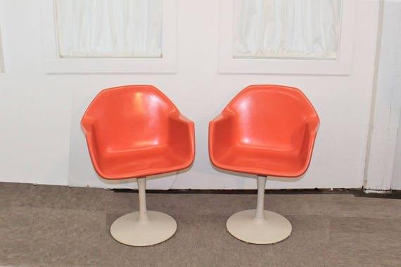 image 0 & Mid Century Modern tulip base fiberglass chairs | Etsy