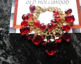 Lipstick Red Charm Bracelet