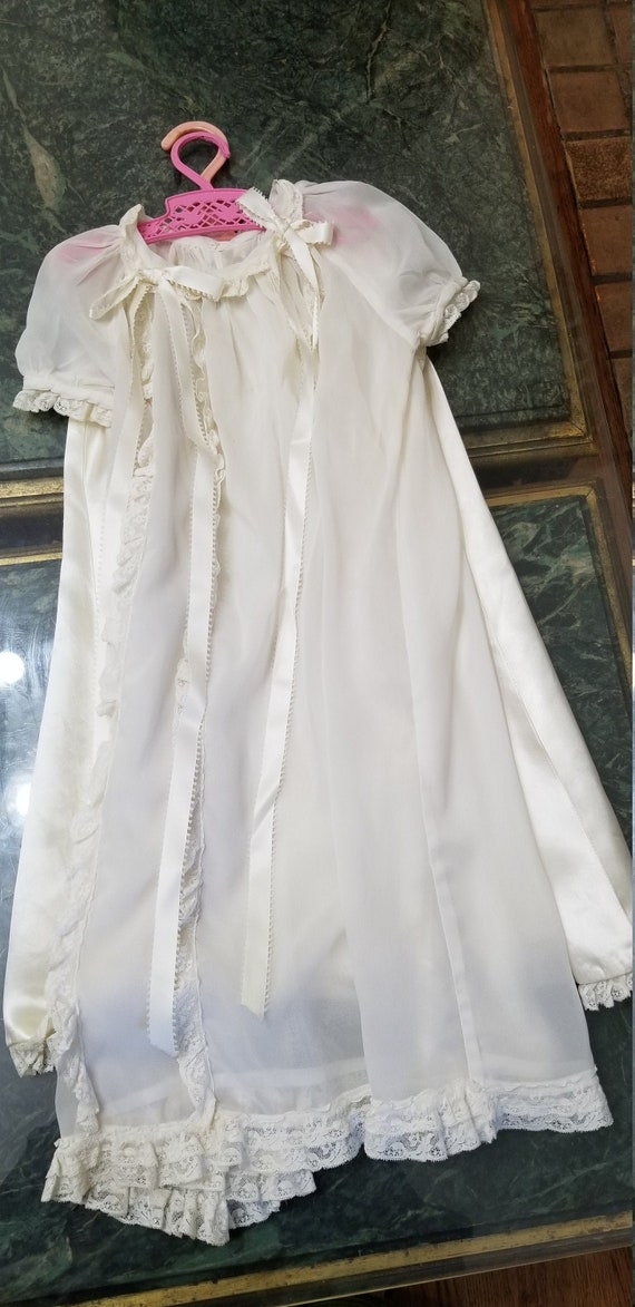 Christening Gown, Beautiful White Two Piece Victor