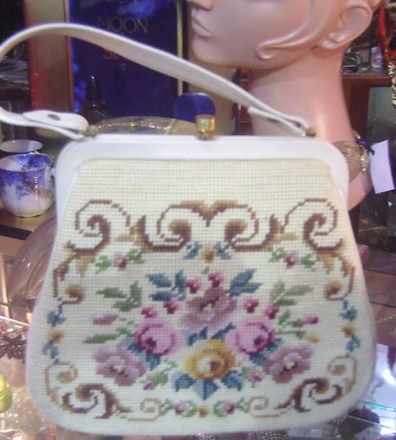 Needlepoint Purse, Handbag,