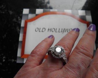 Wedding Ring with Brilliant VerySimulated Diamonds.
