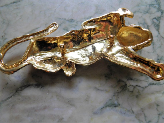 Very Large Bold Tiger Brooch, Pin - image 2