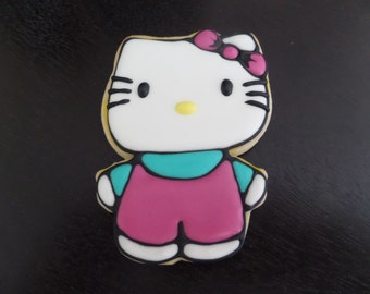 Hello Kitty Decorated Cookie