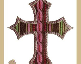 Cross (satin) Applique design