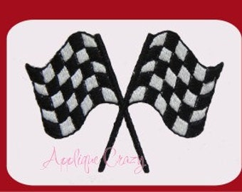 Racing flags filled Embroidery design