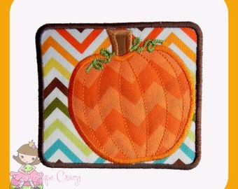 Framed Pumpkin Applique design