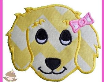 Girl Puppy Applique design